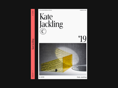 Kate Jackling Portfolio book photography modern simple whitespace grid design minimal clean layout typography