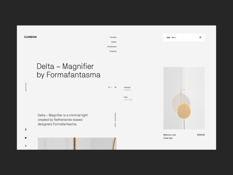 Minimal product design ecommerce store web header ecommerce whitespace design minimal website clean layout typography