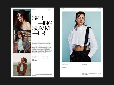 FELTON OUTLINES© whitespace fashion magazine design minimal clean layout typography