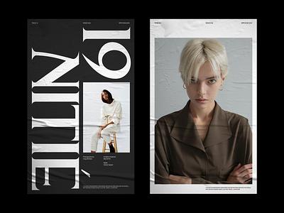 FELTON OUTLINES© magazine fashion serif whitespace grid design minimal clean layout typography
