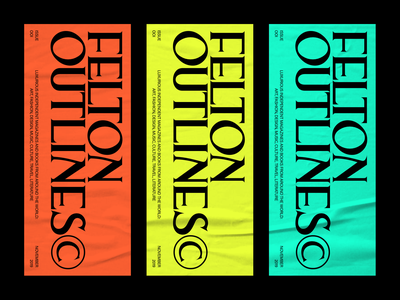 FELTON OUTLINES© COLORS colors magazine layout typography