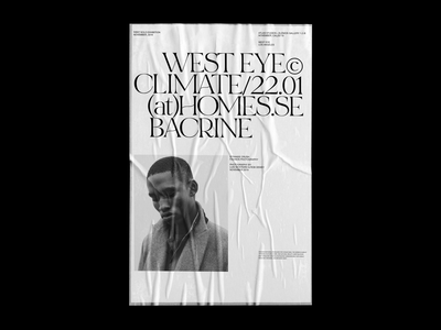 WEST EYE EXHIBITION exhibition gallery whitespace serif typo poster design graphic poster typography