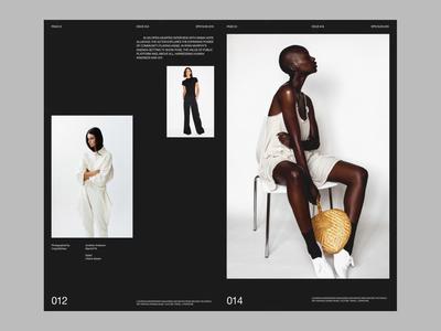 Fashion lookbook simple web whitespace grid design minimal website clean layout typography
