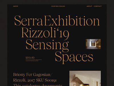 Serra Rizzoli Sensing Spaces header web whitespace grid design minimal website clean layout typography
