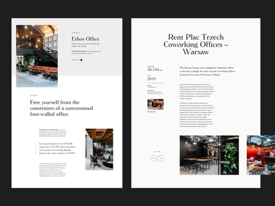 Coworking & Shared Space in US modern simple whitespace grid design minimal website clean layout typography