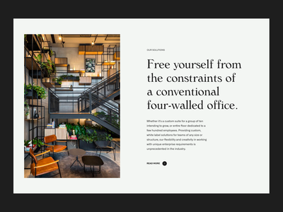Coworking & Shared Space in US simple web whitespace grid design minimal website clean layout typography