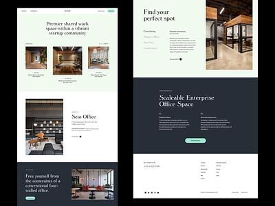 HUB60 Homepage web header whitespace grid design minimal website clean layout typography