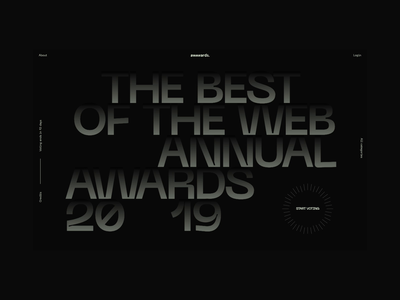 Awwwards Annual Awards 2019 layout typography animation interactive awards awwwards website