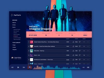 Daily UI Challange 009 Music Player
