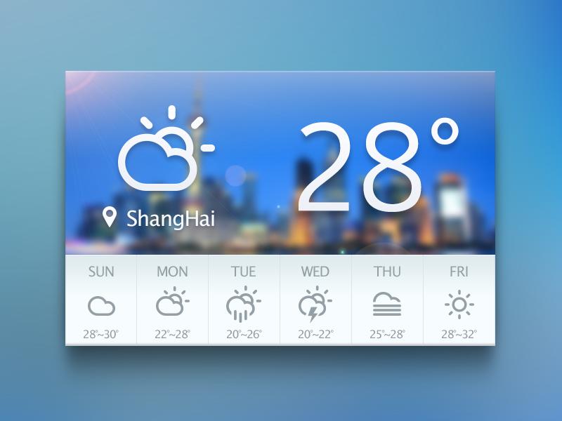 Weather Widget by Lu on Dribbble