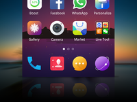 launcher message market contacts phone browser theme app design ui icon