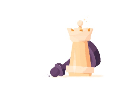 Chess vector illustration flat checkmate chess figure chess