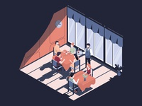 Isometric restaurant