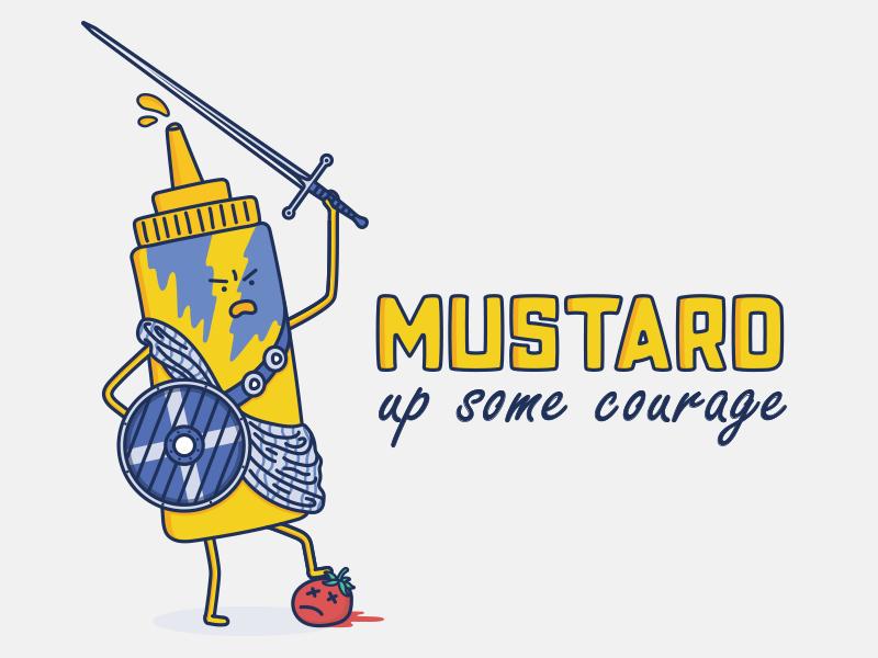 Mustard alba gu bra! sword shield scotland braveheart william wallace tomato courage muster mustard