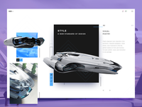 Star Citizen 600i space starship game product interface design flat web dashboard widget website clean ux ui
