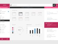 Wordpress dashboard retina pink