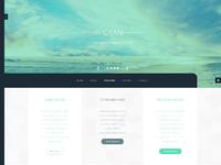 Cyan menu closed