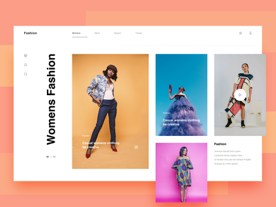 Fashion Widget web figma webdesign widget branding graphic design ui