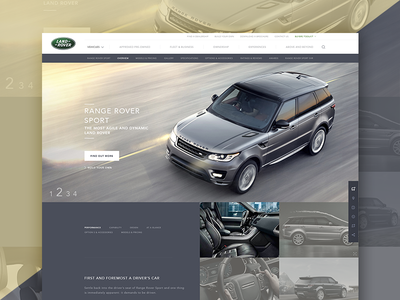 Land Rover product page