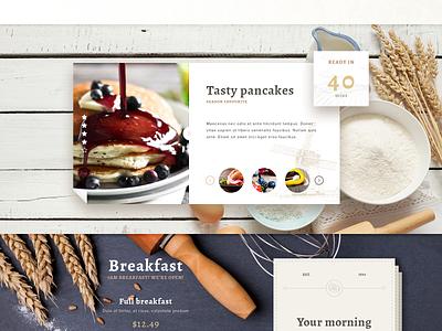 The Bakery Website - Free PSD wood web download website ux ui psd freebie free food button bakery