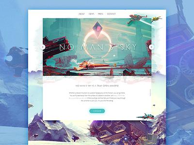 No man's sky website space redesign website no mans sky video games concept vibrant colours art webdesign ux ui