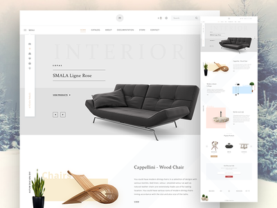 Furniture Store interior living modern store minimal shop ecommerce furniture