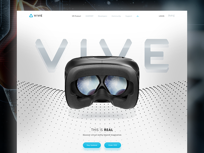 VIVE vive.com design redesign website virtual reality vr htc vive