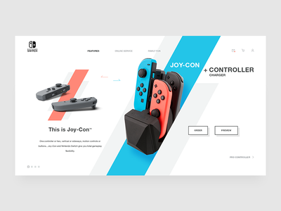 Nintendo Switch - Joy-Con joy-con landing page switch website gaming controller games nintendo nintendo switch
