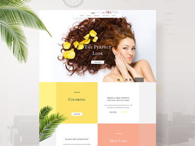Landing page - Hairdresser minimal website landing page hairsalon hairdresser design ux ui