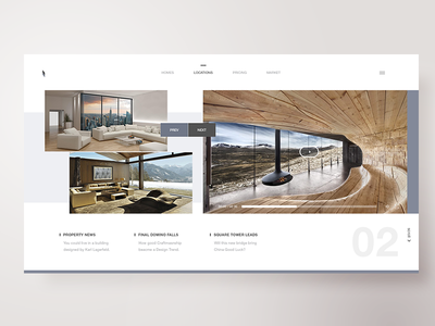 Modern Architectures - Locations real estate website landing ui ux homepage design architecture
