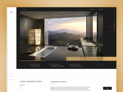 Real Estate Site landing page website web ui typography apartments homes modern real estate