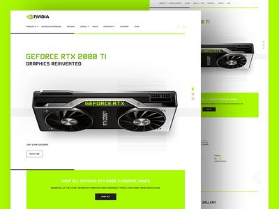 Geforce RTX 2080 white design white clean design website landing page gaming gtx rtx geforce nvidia