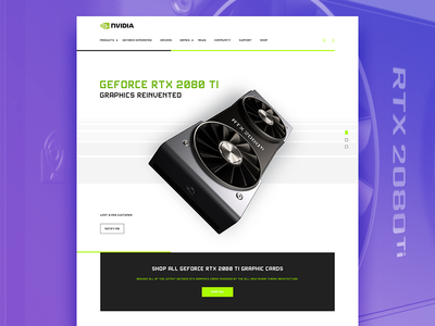 Geforce RTX 2080 white design - V2 nvidia geforce theme logo ecommerce web design website clean typography