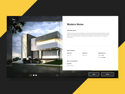 Casa - Product Information website design web ux interface user l ui minima lookbook landing page screen home clean architecture architect