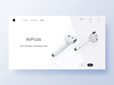 Apple AirPods widget webdesign widget 2019 product design clean design airpods apple