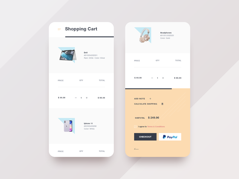 Shopping Cart Mobile product design minimal web clean shopping shop store website ecommerce responsive mobile ui  ux