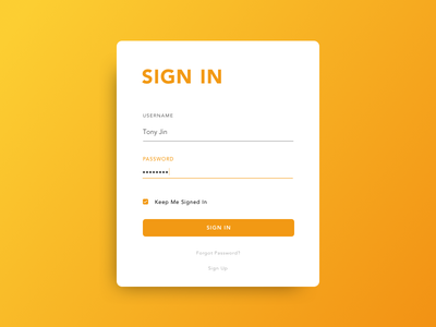 Daily UI #1 - Sign In Page challenge 100 days of ui sign in ui daily ui