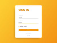 Daily UI #1 - Sign In Page