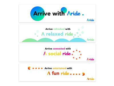 Aride - Autonomous Ridesharing Service Concept future ads visual concept ridesharing uber autonomous cars waymo lyft