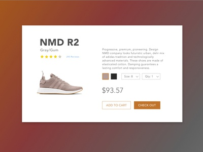 Daily UI #2 - Product Information Page checkout sports shoe challenge 100 days of ui product ui daily ui