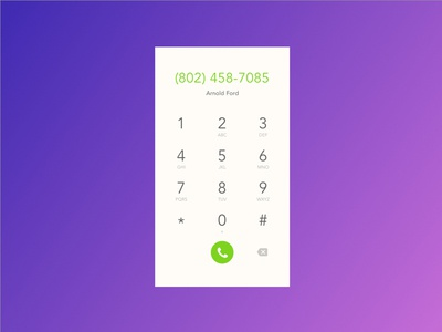 Daily UI #3 - Dial Pad phone dial pad challenge 100 days of ui sign in ui daily ui