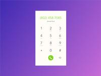Daily UI #3 - Dial Pad