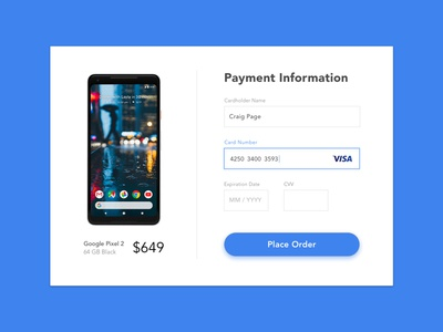 Daily UI #4 - Credit Card Checkout credit card payment credit card checkout checkout challenge 100 days of ui sign in ui daily ui