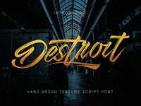 Destroit | hand brush fonts