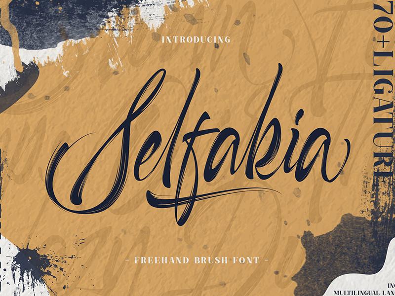Selfakia Brush Font brush script lettering calligraphy handlettering free hand hand brush brush texture brush