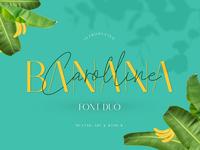 Banana Carolline Font duo