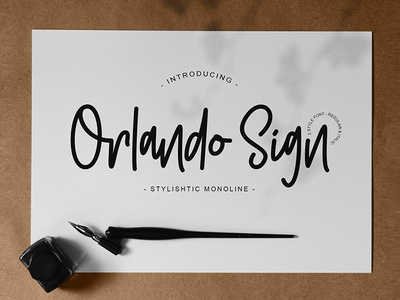 Orlando Sign | Stylishtic Monoline