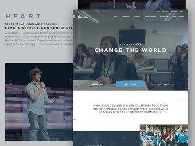 Highlands College church ministry design web education