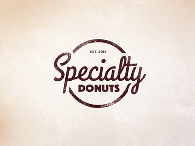 Specialty Donuts branding donuts rejected logo