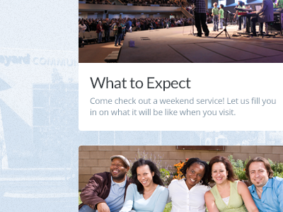 What to Expect church web grid photo